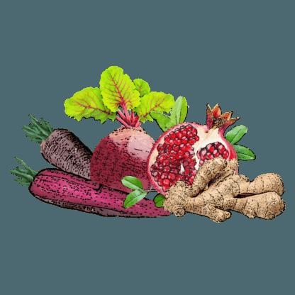 Granatapfel-Karotte Rote Bete-Ingwer